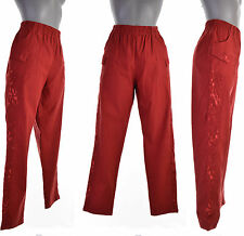 Pantalon Femme Slim Bloomer T 5 44 46 ROUGE BORDEAUX DENTELLE LEONIE