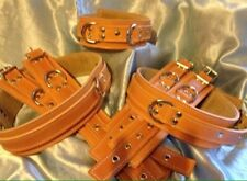 Handmade English Leather Ankle, Wrist, Collar, Thigh Any Colour. Bondage,fetish