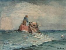 WINSLOW HOMER AMERICAN HAULING NETS OLD ART PAINTING POSTER PRINT BB6547A
