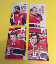 2015-16 MONTREAL CANADIENS POCKET SCHEDULE MOLSON LOT OF 4 P.K SUBBAN & MORE