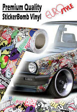 1500mm x 600mm EuroStyle V2 StickerBomb Air Drain Vinyl JDM Car Wrap Sticker