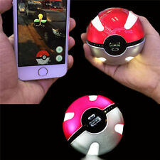 10000mAh Pokemon Go Poke Ball Shape Power Bank USB LED External Battery Charger