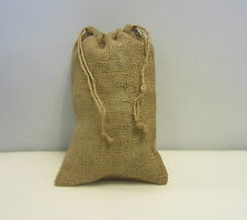 "ONE BURLAP BAG  8"" X 12"" WITH DRAWSTRING  SACK GUNNY FEED BAG TOW SACK GIFT"