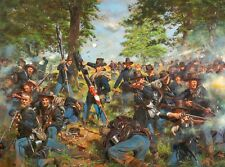 """Black Hats, 19th Indiana Regt - Iron Brigade at Gettysburg"" Don Troiani A/P"