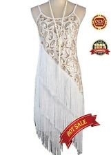 1920's Flapper Party Gatsby Downton Abbey Sequin Tassel Plus Size Dress