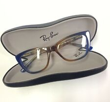 Ray Ban plastic eyeglasses frame RB5322 5488 53-18 blue brown fade NEW authentic