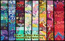 "Kaffe Fassett Quilting Fabric: 80~5""  Squares-No repeats."