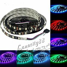 5050 SMD Black PCB 5M 500cm 300leds Non-Waterproof RGB Flexible Lights Strip HOT
