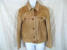 Vintage Gianni Versace Womens Pony Hair Leather Ponyhair Jacket size M - L Tan