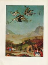 "1971 Vintage HIERONYMUS BOSCH ""TEMPTATIONS OF SAINT ANTHONY"" #1 COLOR Lithograph"