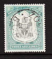 British Africa centrale 1897-1900 / 3-Nero & sea-green SG 49 BELLE utilizzato.