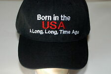 Mens Baseball Hat 'Born in the USA a Long, Long Time Ago' Funny Age Gift  Adj