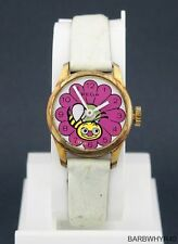 Vintage Rega wind-up Bumble Bee & Flower Animated Moving Eyes Character Watch
