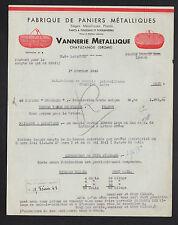 """CHATUZANGE (26) VANNERIE METALLIQUE / POUSSINIERES """"H. DE LAPASSAL"""" en 1943"""