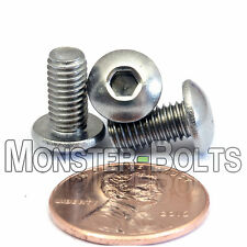 5mm x 0.80 x 10mm - Qty 10 - A2 Stainless Steel BUTTON HEAD Screws  M5-0.8 x 10