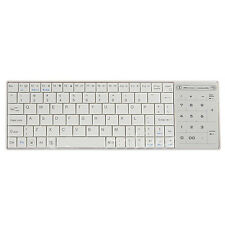 White Wireless Bluetooth 3.0 Keyboard with Touchpad for Apple MacBook Air Pro CT
