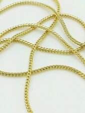 14k Solid Yellow Gold Square Box Franco Adjustable Necklace Chain Up to 22""