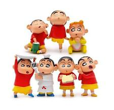 7pcs New Cartoon Crayon Shin-chan Cate Version Action Figure Micro landscape