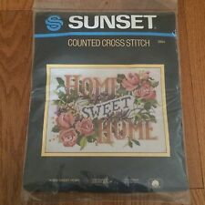 "Sunset ~""Home Sweet Home""~ Counted Cross Stitch ~Kit #2984 (12.5"" x 15.5"")"
