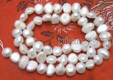 "SALE small 4-5mm  Natural White Freshwater BAROQUE Pearl Loose Bead  14""-los405"
