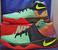 Nike Zoom Kyrie 2 iD Mint Green Black Yellow Multi-Color SZ 14 ( 843253-992 )