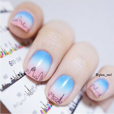 1 Sheet Nail Art Water Decals Transfer Stickers Night Scene Decoration DS268