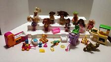 BARBIE'S SISTER KELLY & FRIENDS LOT OF 9 DOLLS, ELEPHANT, TOYS, & ACCESSORIES