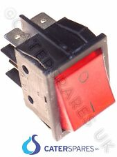 16 Amp Rojo Rocker Switch Power On Off Doble Polo 4 Pin 22x31mm 230v parte CSUK