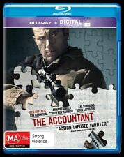 The Accountant (UV) NEW B Region Blu Ray