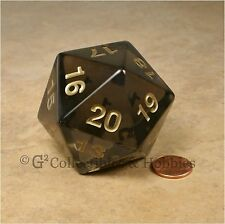 NEW 55mm Transparent Smoke Gray Giant Jumbo Countdown D20 Dice MTG RPG