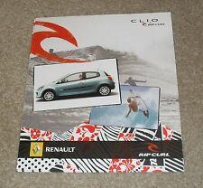 RENAULT Clio Rip Curl BROCHURE EDIZIONE SPECIALE 2007-CLIO Ripcurl 1.2 & 1.5 DCI
