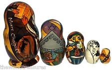 Marc Chagall on Five Russian Nesting Dolls.