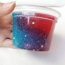 Toy Fun Deco Slime Homemade Red & Blue Galaxy Star Safe and non toxic. Gift