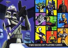 STAR WARS CLONE WARS Sci-Fi Movie Lucas Films 2 DECKS of PLAYING CARDS New