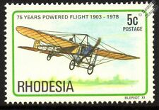 Louis BLERIOT XI (English Channel Crossing) Aircraft Stamp (1978 Rhodesia)