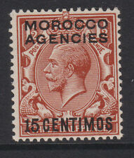 MOROCCO AGENCIES - 1925/31 SPANISH CURRENCY 15c ON 1½d MNH SG.145 (REF.D16)