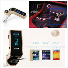 Car Bluetooth Receiver Radio Adapter Music MP3 Player USB Charging Handsfree G7