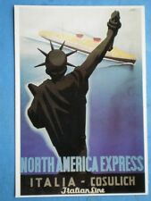 POSTCARD  NORTH AMERICAN EXPRESS ITALIA - COSULICH