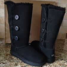 UGG BAILEY BUTTON TRIPLET TRIPLE BLACK TALL BOOTS US 8 WOMENS 1873
