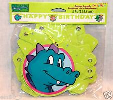 NEW RARE DRAGON TALES  PARTY SUPPLIES  HAPPY BIRTHDAY BANNER