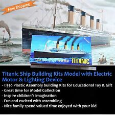 Titanic Ship Boat Sailboat Vintage Antique Model Kit Building Education Gift Toy