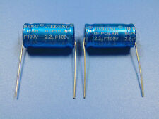 2pcs 100V 2.2uF Audio Speaker Divider Non-Polarized Axial Electrolytic Capacitor