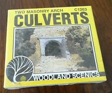Woodland Scenics HO Scale Two (2) Masonry Arch Culverts C1263 New in Package