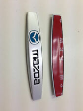 2pcs Mazda Metal Lateral Trasera Fender Emblema Insignia Sticker Tamaño 98mm