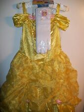 Disney Beauty BELLE Disguise Deluxe Dress Up Costume Medium (7/8) M + Gloves NEW