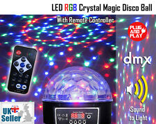 LED Rgb Cristallo Magia Sfera specchiata luce-DMX AUTO SOUND CON REMOTE PARTY DJ