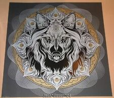 Chris Saunders Wolf Mandala Print Poster Signed Numbered COA Art