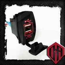 OFFROAD ARSENAL 5V 3.1A DUAL USB POWER PORT CHARGER PHONE ROCKER SWITCH RED