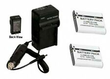 Two 2 D-LI92 DLI92 Battery + Charger for Pentax Optio RX18 RZ18 WG-1 WG1