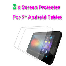 "2 X CLEAR 7"" inch SCREEN PROTECTOR FOR  7'' NATPC M009S Allwinner A10 Tablet"